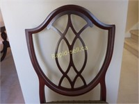 Set of Six Quality Shield Back Side Chairs