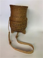 Native Woven Fish Basket with Strap