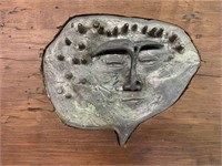 Unusual Poured Molded Figure in Wood