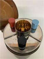 Mid Century Modern Travel Liquor Set