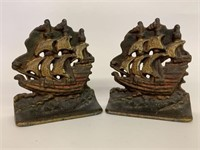 Pair of Cast Book Ends