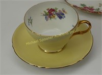 SHELLEY TEA CUP AND SAUCER + 3 HOSTESS TEACUP SETS