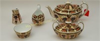 ROYAL CROWN DERBY OLD IMARI - 5 PIECE TEA SERVICE