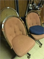 Wooden Round High back Swivel Dinning Chairs