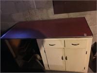 retro style kitchen counter cabinet