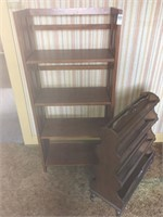 Wooden shelve and rack