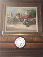 G.Fontini villa Painting and clock