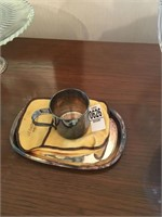 Rodgers silver cup and tray