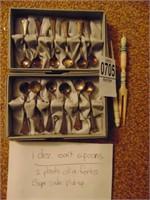 Sterling Salt spoons, olive forks