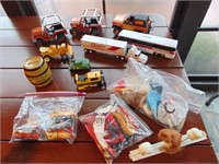 Toy vehicles and doll accessories