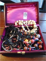 Farrington jewelry box beaded necklaces