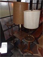 2 floor table  lamps &  plant stand