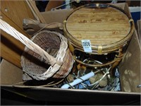 Wooden racks and baskets