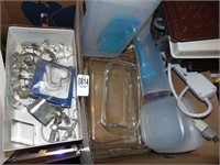 Waffle maker, Pyrex, & cookie cutters
