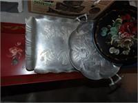 Decorative metal trays