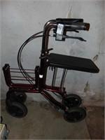 Humancare Foldable walker w/ seat