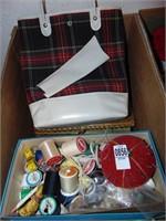 Sewing Kits and Knitting Bag