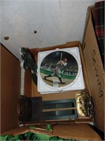Delphi Babe Ruth Plate and Bookends