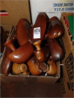 6 pairs of Wooden Shoe Stretchers