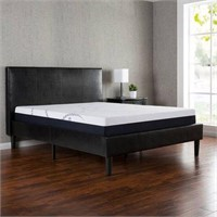 ZINUS GERARD FAUX LEATHER PLATFORM BED COVER