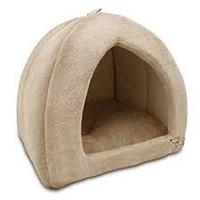 TRIANGULAR SUEDE PET TENT BED