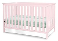 ROSLAND 3-IN-1 CONVERTIBLE CRIB PINK
