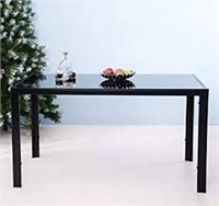 "MERAX 55"" GLASS DINING TABLE(NOT ASSEMBLED)"