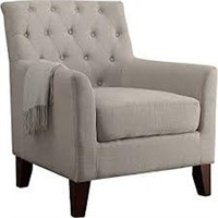 ROSEVERA HOME FABRIC TUFTED ARMCHAIR