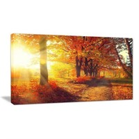 ART CANVAS AUTUMNAL TREE APPROXIMATELY 3 X 5 FT.