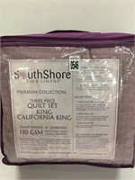 SOUTH SHORE 3PC QUILT SET KING/CAL KING