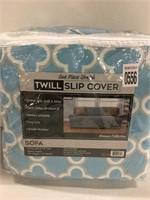 STRETCH TWILL SOFA SLIPCOVER