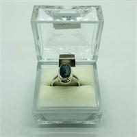 SILVER KYANITE RING (112 - CR95)   (D2)