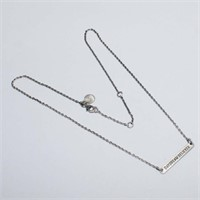 SILVER NECKLACE (134 - CR95)   (D2)