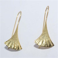 SILVER GOLD PLATED DANGLING EARRINGS (144 - CR95)