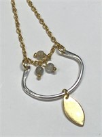 SILVER LABRADORITE NECKLACE (145 - CR95)   (D2)