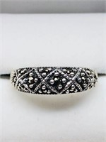 Silver Marcasite  Ring (151 - CR95)   (D2)