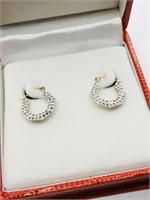 10KYellow Gold Cubic Zirconia  Earrings (~weight