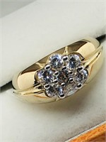 $100 Gold plated Silver CZ(2cts) Ring (160 -
