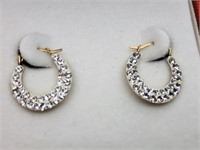 10KYellow Gold Cubic Zirconia  Earrings, (161 -