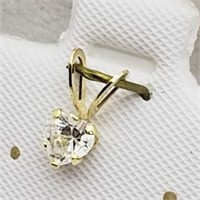 14KYellow Gold Cubic Zirconia  Pendant, Made in
