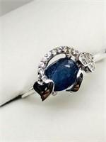 Silver Sapphire (September Birthstone) Cubic