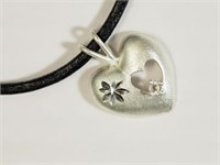 Silver Pendant With High Fashion Cord (172 -