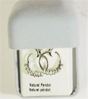 Silver Peridot Earring (174 - CR95)   (D2)