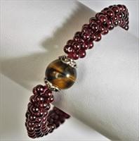 Garnet Tiger Eye Lapis Bracelet. (176 - CR95)