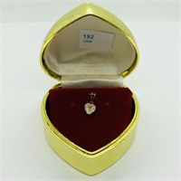 10K Yellow Gold Moonstone Ruby  Pendant (192 -