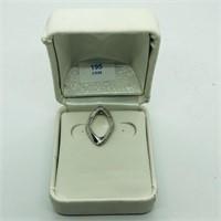 Silver 4 Diamond  Pendant (195 - CR95)   (D2)