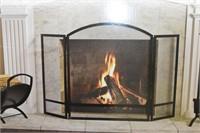 Open Hearth Fireplace Screen Black Finish