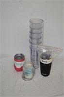 Grp, of Acrylic Glasses and Tumblers