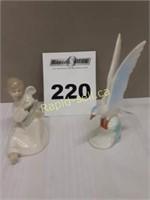 Bird and Angel Figurines