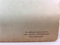 1950's Joe Lewis Restaurant Souvenir